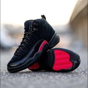 Jordan 12 Retro Black Rush Pink (GS)